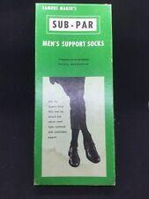 Vintage Men's SUB-PAR Socks New In Original Box 1950 Brown