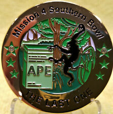 DISCONTINUED Gold Last APE Cache Geocoin - Mission 4 PotA Collectible Geocaching