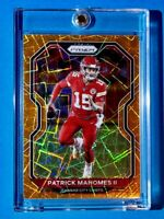 Patrick Mahomes ORANGE LASER PRIZM REFRACTOR HOT NEW 2020 INVESTMENT CARD - Mint