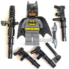 BM004W Lego Batman Minifigure with Mess Weapons - Gray Version NEW