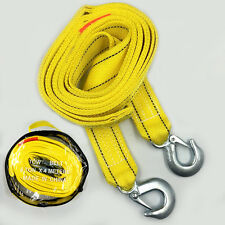 Heavy Duty Tow Strap with Hooks  Capacity Yellow Nylon Rope 4 meters 5t