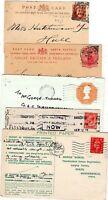 ! 1888/1979  5 BRADFORD POSTAL HISTORY COVERS & CARDS SQUARED CIRCLES WAR BONDS
