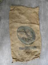 Ancien sac en toile de jute z p c design deco jute bag Z.P.C locomotive vintage