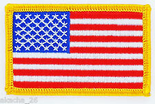 LOT 10 X PATCH ECUSSON DRAPEAU USA AMERICAIN ETATS UNIS THERMOCOLLANT 7X4.5CM