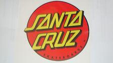"""2 X  SANTA CRUZ  STICKERS DECALS 4"""" MOTOR SPORTS BIKEHELMETS  IOM TT RACING CARS"""