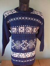 Vintage Winter Retro Sweater Christmas Top 100% Acrylic LARGE XL - SNATCH