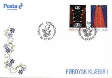 Faroe Islands Faroes 2016 FDC Faroese National Costumes I 2v Set Cover Stamps
