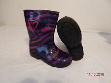 Girls Toddler Rain Boots size 11 Shake it up Pink blue