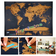 Large Size Cool Poster Deluxe Global Travel Constellations Star World Map Gift