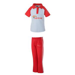 Kids Official Girl Guiding Rainbow Pack Uniform Polo T-Shirt Jog Trousers