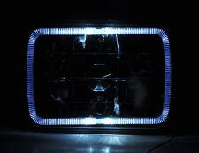 "7x6"" Black Chrome Halo Angel Eye H4 Crystal Clear Headlight Conversion Nis"