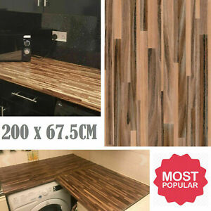 DIY Kitchen Worktop Wood Vinyl Cover Self Adhesive Sticky Back Wrap Roll HQ UK