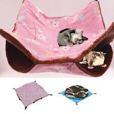 2x Sugar Glider Squirrel Parrot Ferret Hammock Hanging Bed House Cage Mat