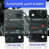 30A~300A AMP 12-48V DC Circuit Breaker Car Stereo Audio Fuse Reset Marine