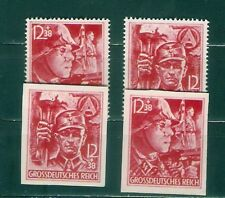 GERMANY Sc B292-B293  PERF and IMPERFORATE MINT NH  VF