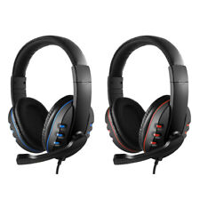 Gaming Headset Stereo Music Headphone 3.5mm Earphones W/mic For PS4 Laptop Xbox
