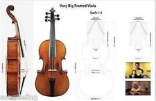 "Hand made big 5 string viola 17 7/8"" fretted viola (455mm),big resonant sound"