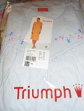 chemise de nuit manches courtes TRIUMPH bleu ciel taille 42 - neuve