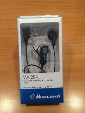 MIDLAND MA28-L MICROFONO AURICOLARE 2 PIN G6XT G7XT G8 G9