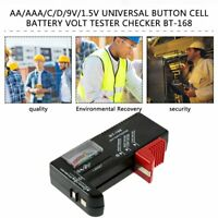 AA/AAA/C/D/9V/1.5V Universal Button Cell Battery Volt Tester Checker BT-168 DS