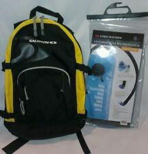 NEW Salomon 1.5L Hydration Pack Backpack Hiking Biking Climbing Day Bag Yellow
