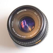 Minolta MD 45mm f/2 Pancake Lens X-700 X-370 X-570 SRT202 201 101 XD11 XD5