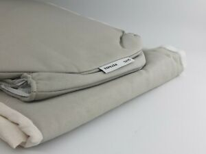 IKEA Espevär Bezug Boxspringbett dunkelbeige 140 x 200 cm  HOCHWERTIG Bettbezug