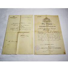 2 alte Urkunden Behörde für das Schankkonzessionswesen Hamburg 1904