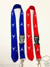 Jordan Lanyard Red & Blue Key, Badge, cell phone holder. Save when you buy a pai