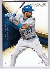 2014 Panini Immaculate Collection #24 Matt Kemp Base Card #12/99