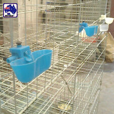10x Pigeon Automatic Feeder Bird Feed Poultry Water Drinking Cups PCRIB 0725x10