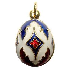 CROIX Pendentif Oeuf style Fabergé, Bijou fantaisie raffiné oeuf-pendentif