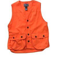 L L BEAN Hunting Vest Blaze Orange M Medium Game Bag Back Bullet Holders Quality
