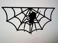 "Spider in web gusset art 12"" wide - bobber chopper custom  Halloween rat rod"