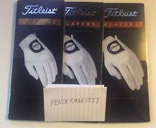 Tres (3) Titleist jugadores para hombre izquierda Guantes para diestros golfista Pick Size