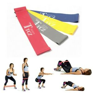 EXERCISE FITNESS RESISTANCE BAND YOGA PILATES LOOP TRAINING CROSS FIT GYM STRAP
