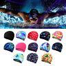 Summer Men Women Silicone Long Hair Waterproof Pool Swim Hat Swimming Cap SH US