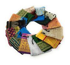100 Schmuckbeutel Säckchen Stoff Geschenkbeutel Verpackung aus Sari Stoff 8x8cm