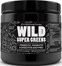 Wild Green Superfood Powder - Organic Super Greens Powder w/ Digestive Enzymes