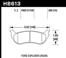 Hawk Disc Brake Pad Rear for Mercury Mountaineer / Ford Explorer # HB613Y.589