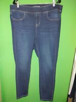 3545) TORRID 1XS elastic waist pull on denim Lean Jean stretch skinny crop 1XS