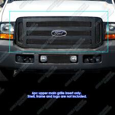 Fits 2005-2007 Ford F250/F350/Excursion Black Billet  Grille