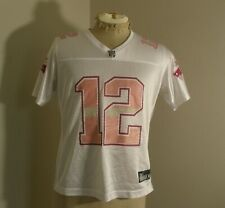 Womens REEBOK New England Patriot TOM BRADY #12 Football Pink Jersey Large