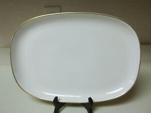 Princess House Heritage China Exclusive Serving Platter 15 1/2 x 11 Gold Trim