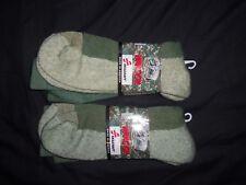 2 PAIR WINTER SOCKS X LARGE COLD WEATHER MADE USA SKILCRAFT NANOOK GREEN GRAY XL