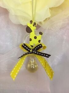 12 giraffe Pacifier Necklaces Baby Shower Game Favors Prizes Boy Decoration
