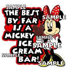 Disney Disneyland Mickey Ice Cream Bar Minnie Scrapbook Paper Die Cut Piece