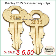 #2055 Key for Bradley Paper Towel & Toilet Tissue Dispensers - (2/pk.)