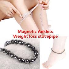 Mens Womens Black Magnetic Hematite Anklet Pain Relief Energy Charm  Bracelet