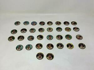 33 1964 Topps MLB Coins With Sandy Koufax, Pete Rose and Joe Torre (28 Players)